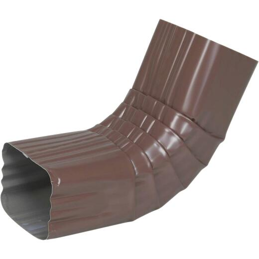 Spectra Metals 3 x 4 In. Aluminum Brown Front Downspout Elbow
