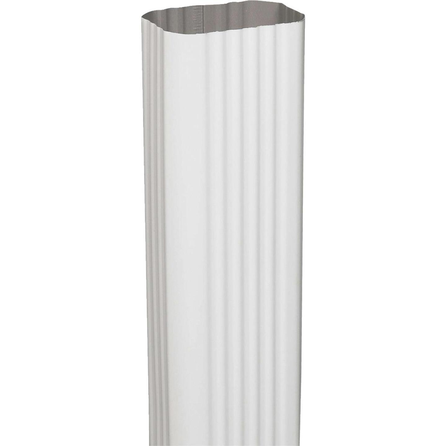 Spectra Metals 2 In. x 3 In. x 15 In. K-Style White Aluminum Downspout Extension Image 1