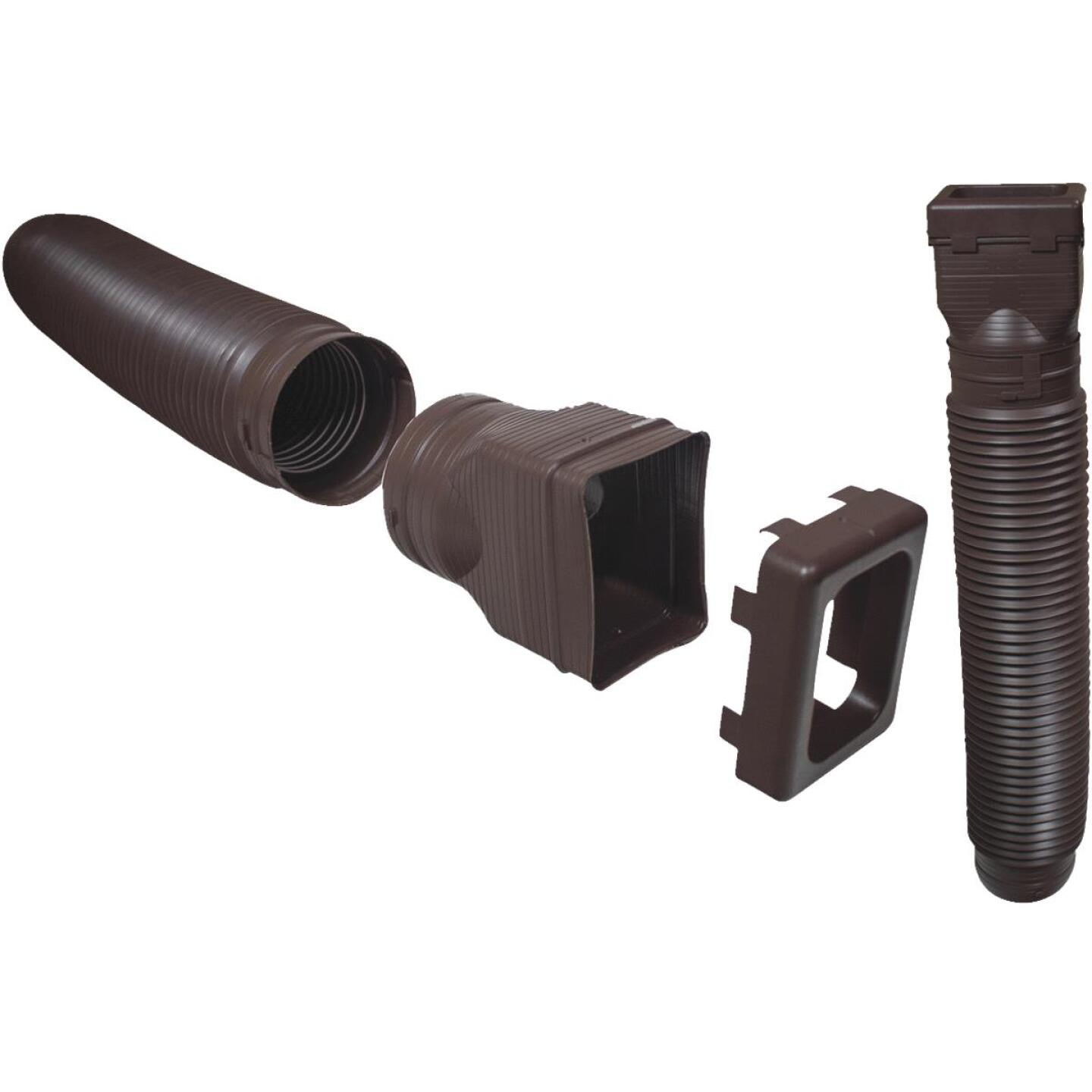 Spectra Metals Ground Spout 22 In. to 48 In. Stone K-Style Polypropylene Downspout Extender Image 1