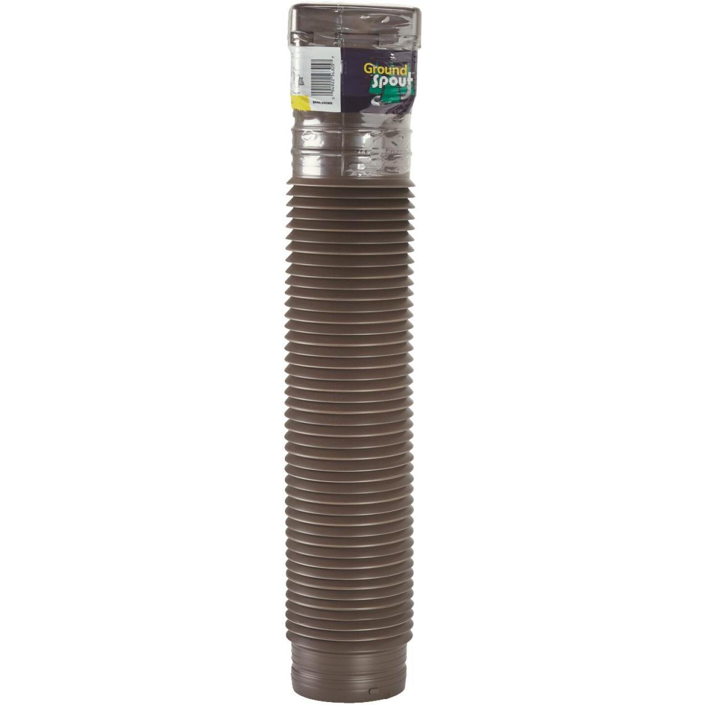 Spectra Metals Ground Spout 22 In. to 48 In. Brown K-Style Polypropylene Downspout Extender Image 2