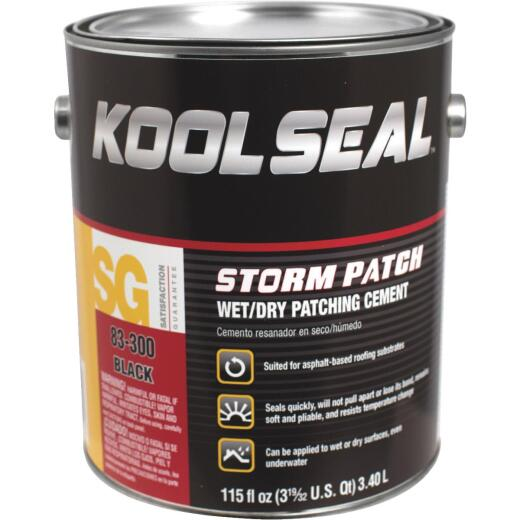 Kool Seal Storm Patch 1 Gal. Black All-Weather Rubberized Cement