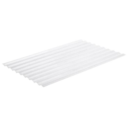 Sequentia Super600 26 In. x 8 Ft. White Round Fiberglass Corrugated Panels