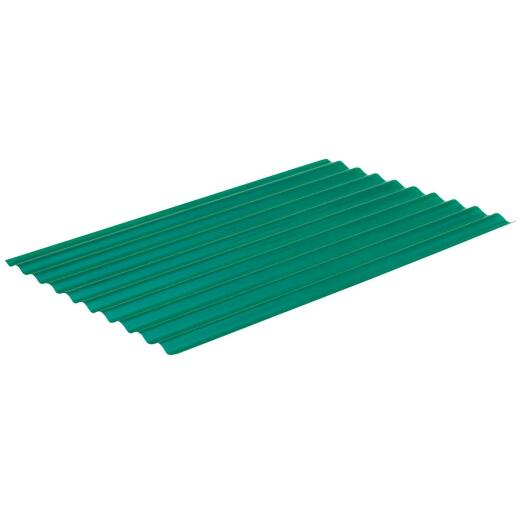 Sequentia Super600 26 In. x 10 Ft. Hunter Green Round Fiberglass Corrugated Panels