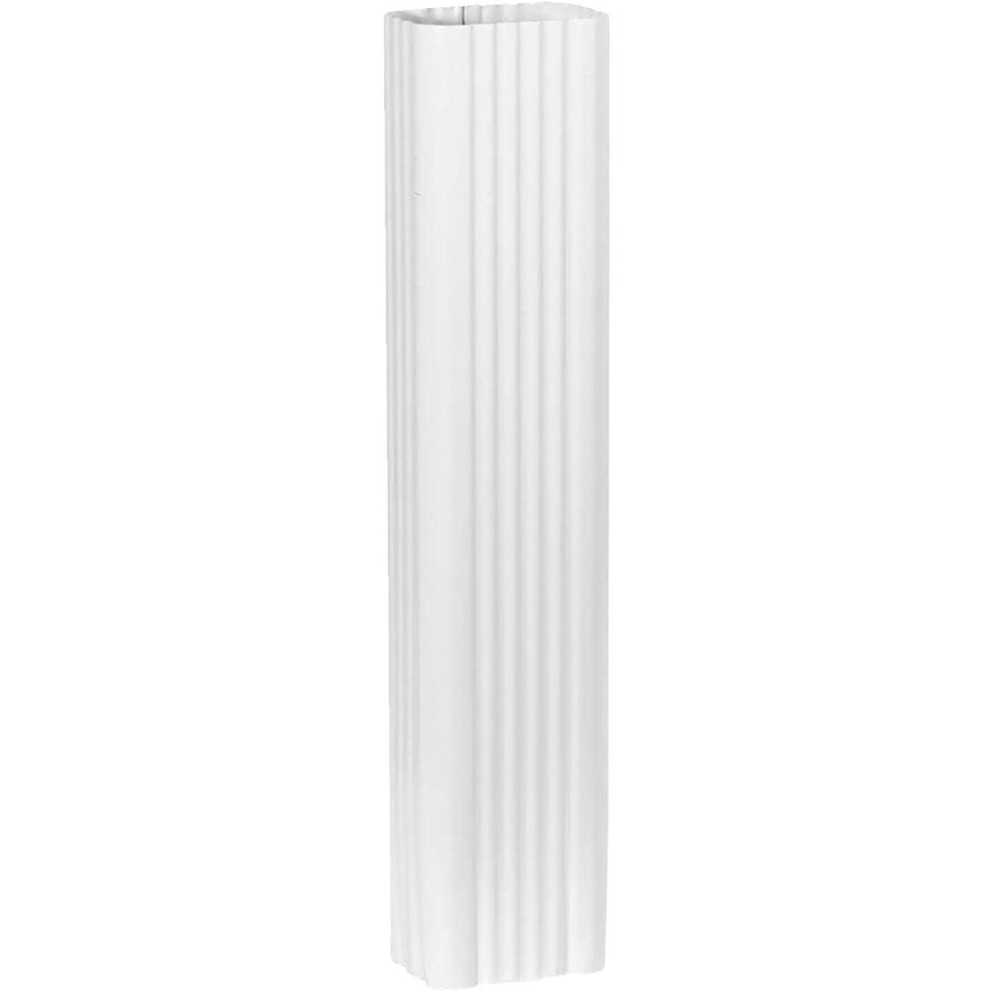 Spectra Metals 3 In. x 4 In. x 15 In. K-Style White Aluminum Downspout Extension Image 1