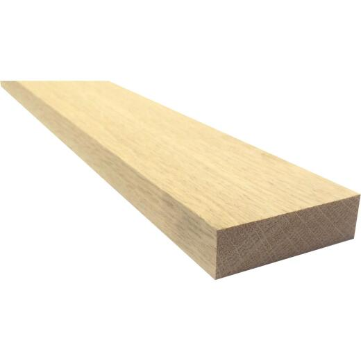 Waddell 1 In. x 3 In. x 3 Ft. Red Oak Board