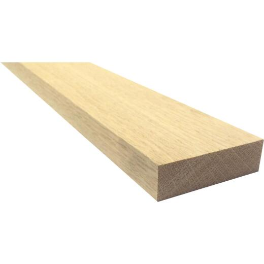 Waddell 1 In. x 3 In. x 8 Ft. Red Oak Board