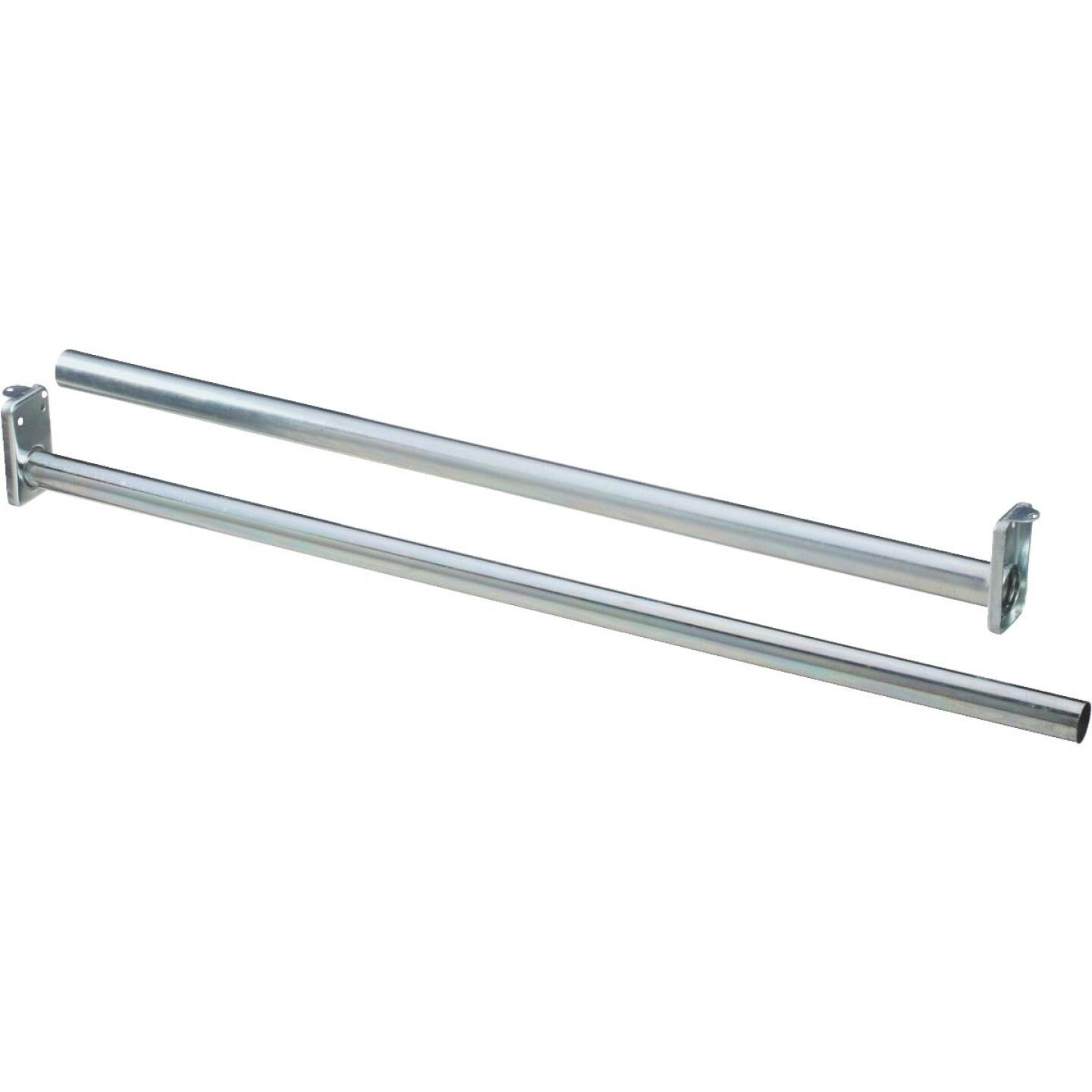 Stanley National 48 In. To 72 In. Adjustable Closet Rod, Bright Steel Image 1