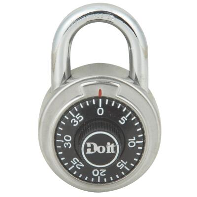 Do it 2 In. Stainless Steel Black Combination Lock Padlock