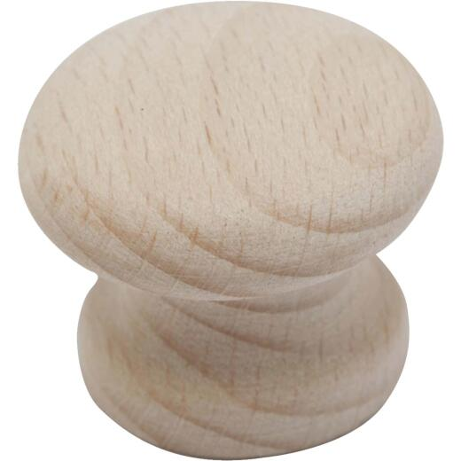 Do it Wood Hardwood Round 1-1/2 In. Cabinet Knob, (2-Pack)