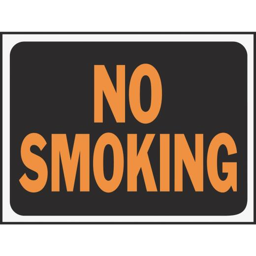 Hy-Ko Plastic Sign, No Smoking