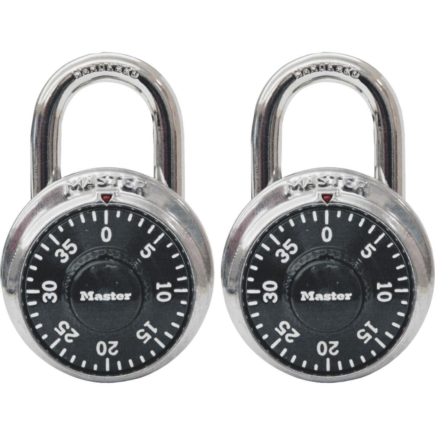 Master Lock 1-7/8 In. Stainless Steel Combination Padlock (2-Pack) Image 1
