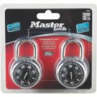 Master Lock 1-7/8 In. Stainless Steel Combination Padlock (2-Pack) Image 2