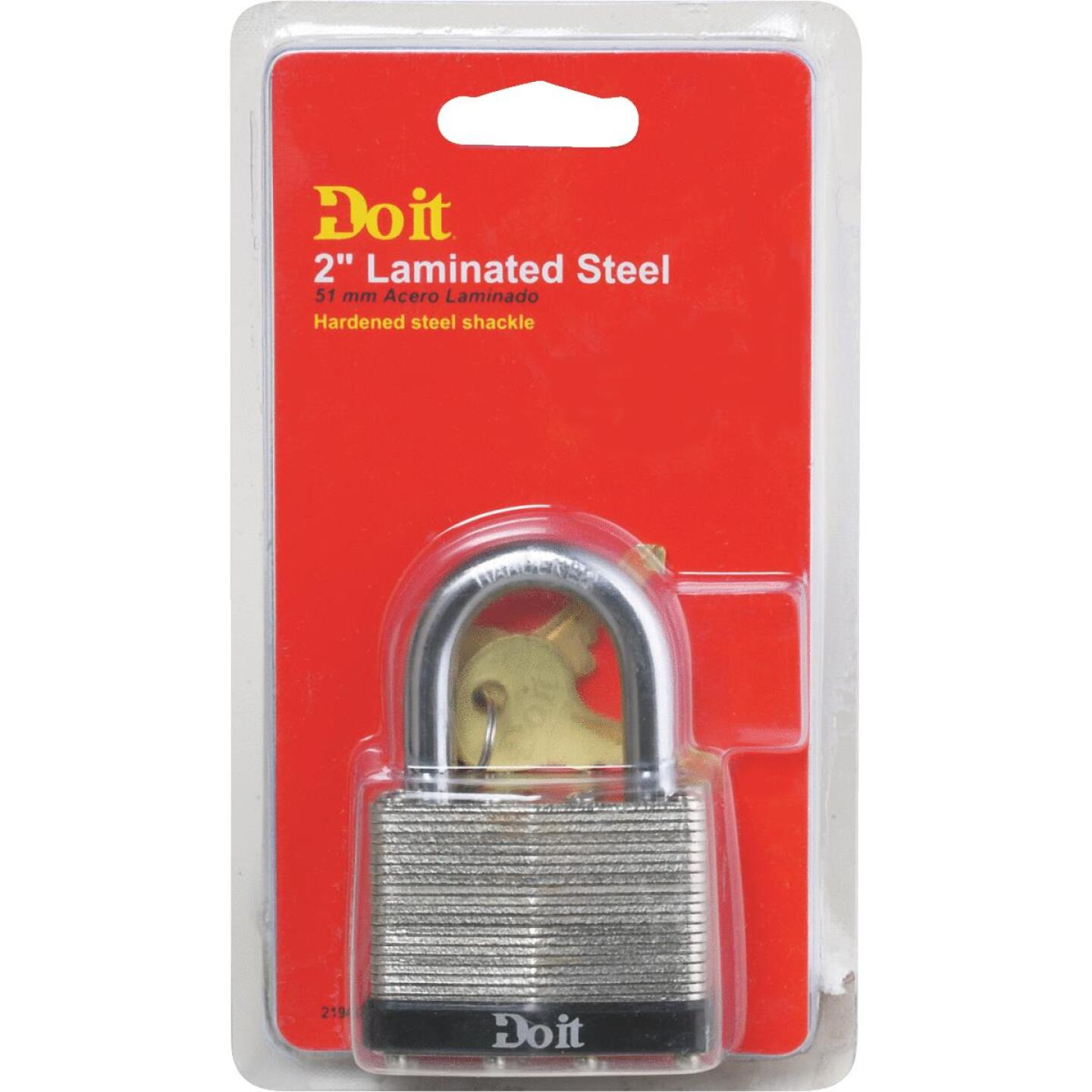 "Do it Laminated Steel 2"" Laminated Pin Tumbler Padlock Image 2"