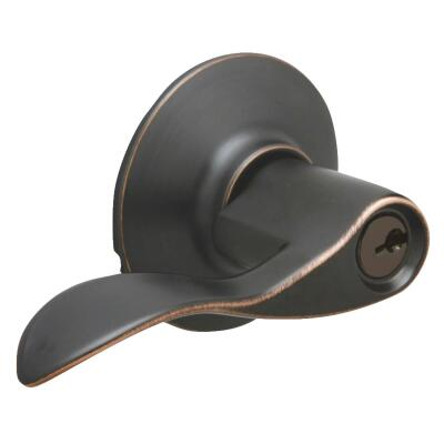 Schlage Aged Bronze Accent Entry Door Lever