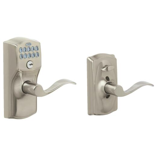 Schlage Camelot Lever Satin Nickle Electronic Keypad Entry Lock