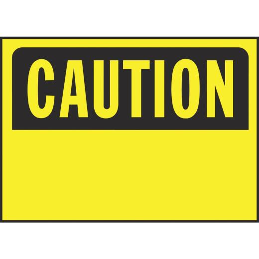 Hy-Ko Polyethylene Sign, Caution-Blank