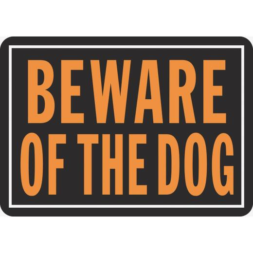 Hy-Ko Aluminum Sign, Beware Of The Dog