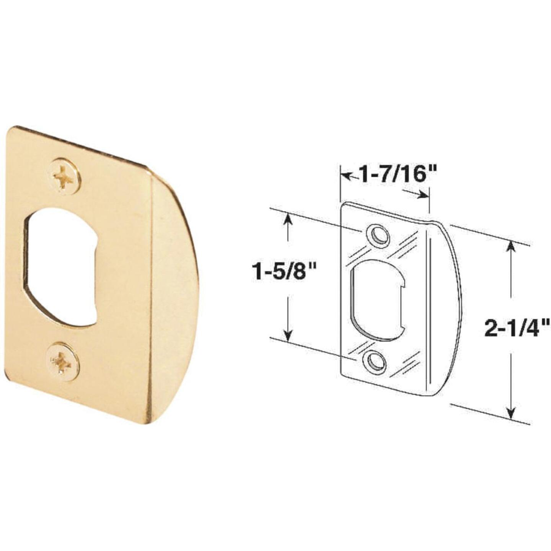 Defender Security Brass 1-3/4 In. Lip Strike Plate Image 1