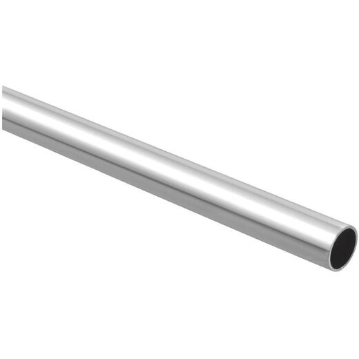 Stanley Home Designs 8 Ft. x 1-5/16 In. Cut-to-Length Closet Rod, Chrome