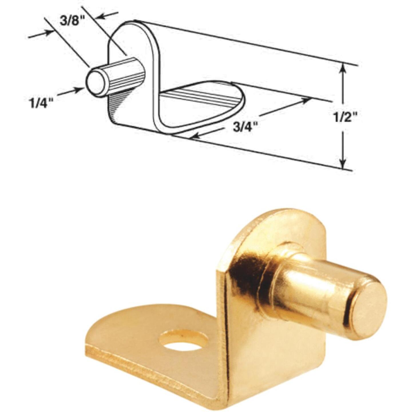 Prime-Line 1/4 In. Brass Metal Shelf Support (8-Count) Image 1