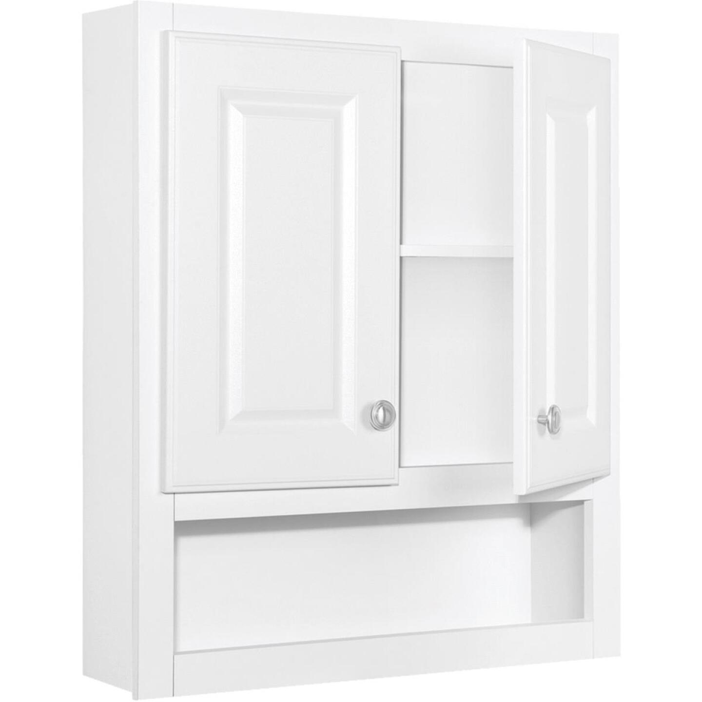 Continental Cabinets Modular Semi-Gloss White Finish 23-1/4 In. W. x 28 In. H. x 7-1/4 In. D. Wood Wall Bath Cabinet Image 2