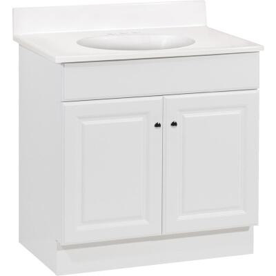 Continental Cabinets Richmond White 30-1/2 In. W x 35-1/4 In. H x 18-1/2 In. D Vanity with Cultured Marble Top
