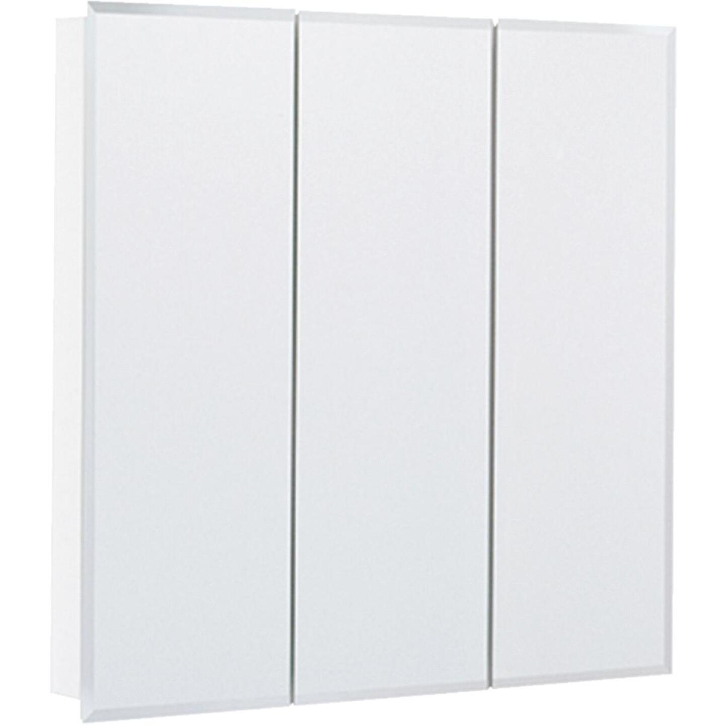 Continental Cabinets Frameless Beveled 30 In. W x 29-3/4 In. H x 4-1/4 In. D Tri-View Surface Mount Medicine Cabinet Image 3
