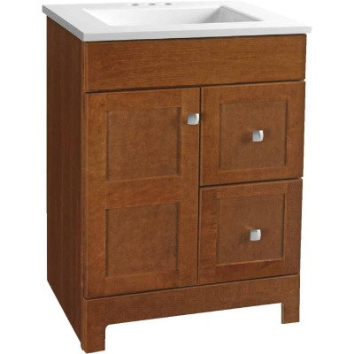 Continental Cabinets Allenton Auburn 24-1/2 In. W x 34-1/2 In. H x 19 In. D Vanity with Cultured Marble Top