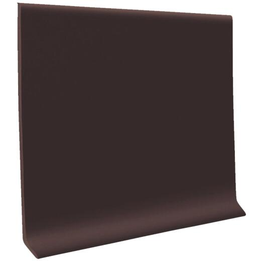 Roppe 4 In. x 4 Ft. Brown Vinyl Dryback Wall Cove Base
