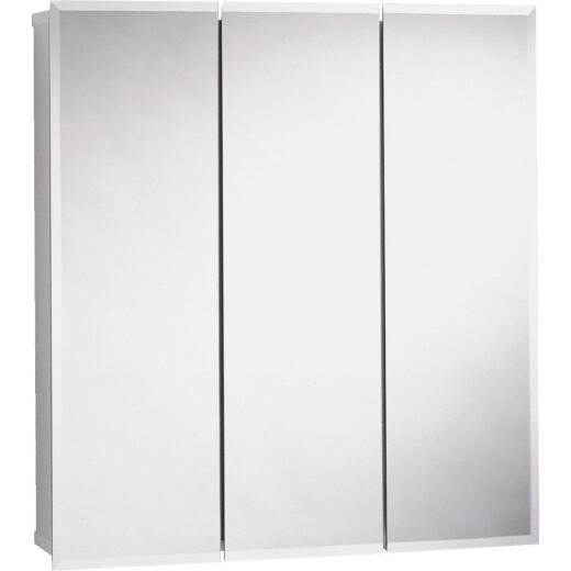 Zenith Frameless Beveled 35-7/8 In. W x 29-7/8 In. H x 4-1/2 In. D Tri-View Surface Mount Medicine Cabinet