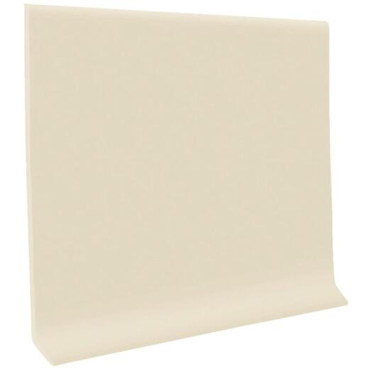 Roppe 2-1/2 In. x 4 Ft. Almond Vinyl Dryback Wall Cove Base