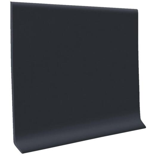 Roppe 2-1/2 In. x 4 Ft. Black Vinyl Dryback Wall Cove Base