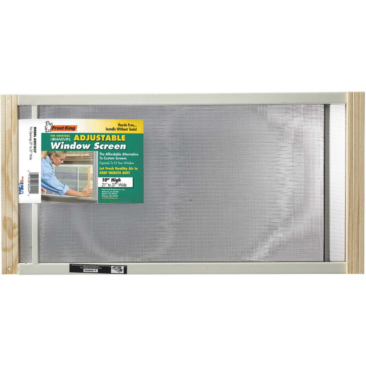 W.B. Marvin 10 In. x 21-37 in. Adjustable Window Screens by Frost King Image 1