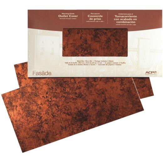 ACP 12 In. Moon Copper Wall Plate Cover Film
