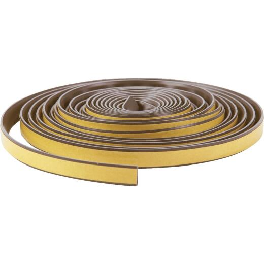 "Do it Best 1/2"" W x 1/4"" T x 20' L Brown Silicone Weatherstrip Tape"