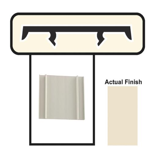 Screen-Tight 3-1/2 In. W. x 8 Ft. L. Beige Vinyl Cap Component