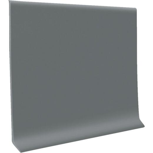 Roppe 4 In. x 120 Ft. Roll Dark Gray Vinyl Dryback Wall Cove Base
