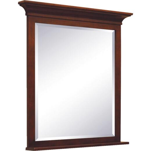 Sunny Wood Grand Haven Cherry 36 In. W x 36 In. H Vanity Mirror