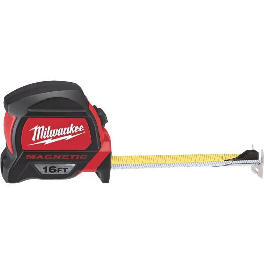 Milwaukee 16 Ft. Magnetic Tape Measure with Blueprint Scale