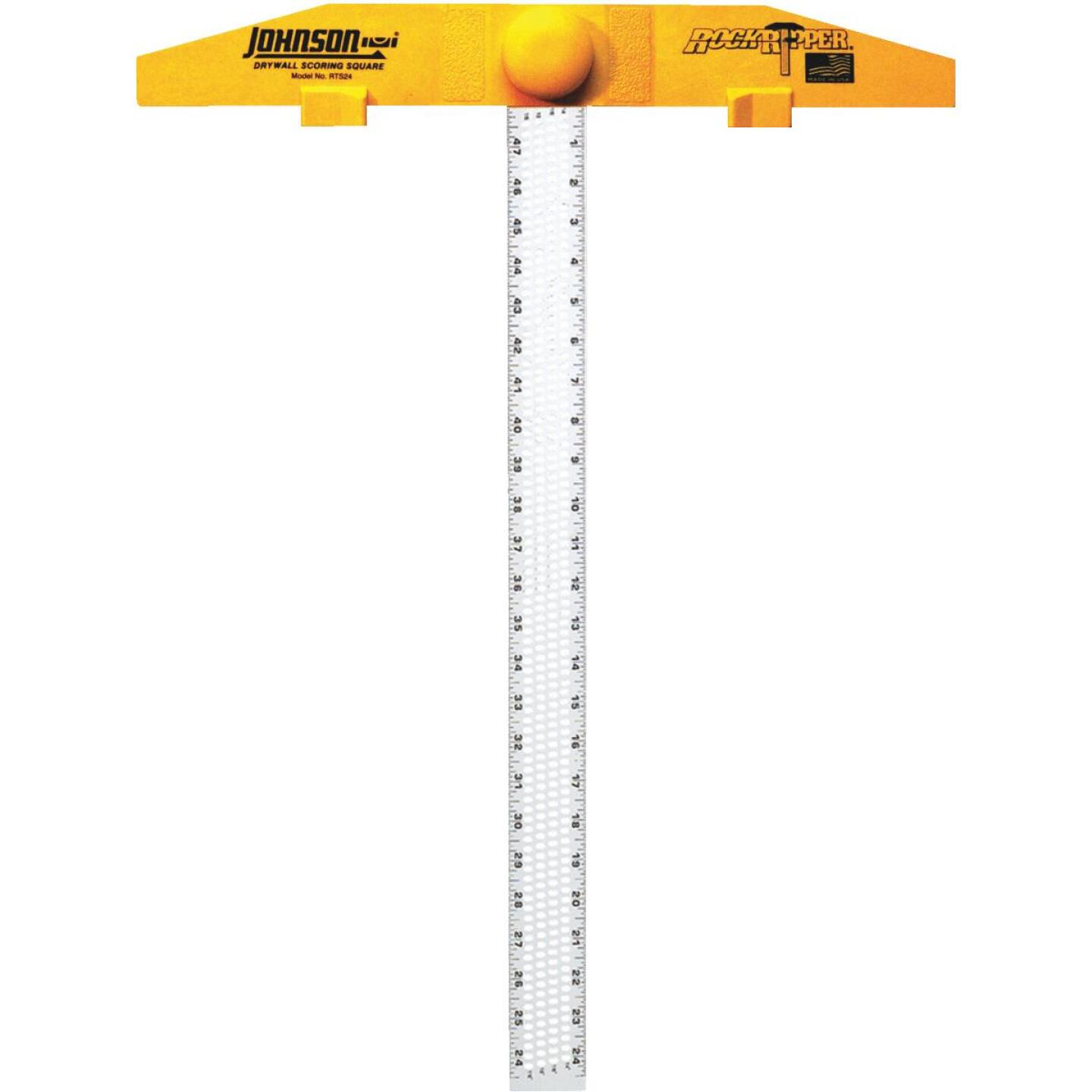 Johnson Level RockRipper 24 In. Aluminum English/Metric Scoring Drywall Square Image 1