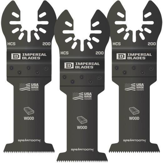 Imperial Blades ONE FIT 1-3/8 In. 12 TPI Speartooth Wood Oscillating Blade (3-Pack)
