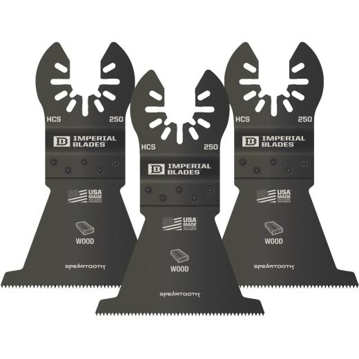 Imperial Blades ONE FIT 2-1/2 In. 12 TPI Speartooth Wood Oscillating Blade (3-Pack)