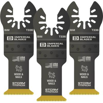 Imperial Blades One Fit 1-1/4 In. Titanium Coated Bi-Metal Storm Oscillating Blade