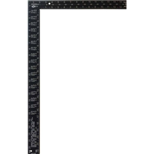 Johnson Level 16 In. x 24 In. Black Aluminum Big J Pro Carpenter's Square