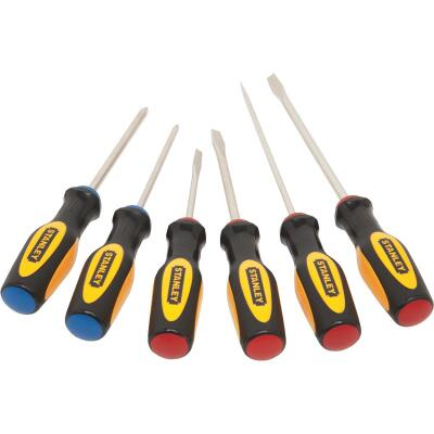 Stanley Slotted & Phillips Screwdriver Set (6-Piece)