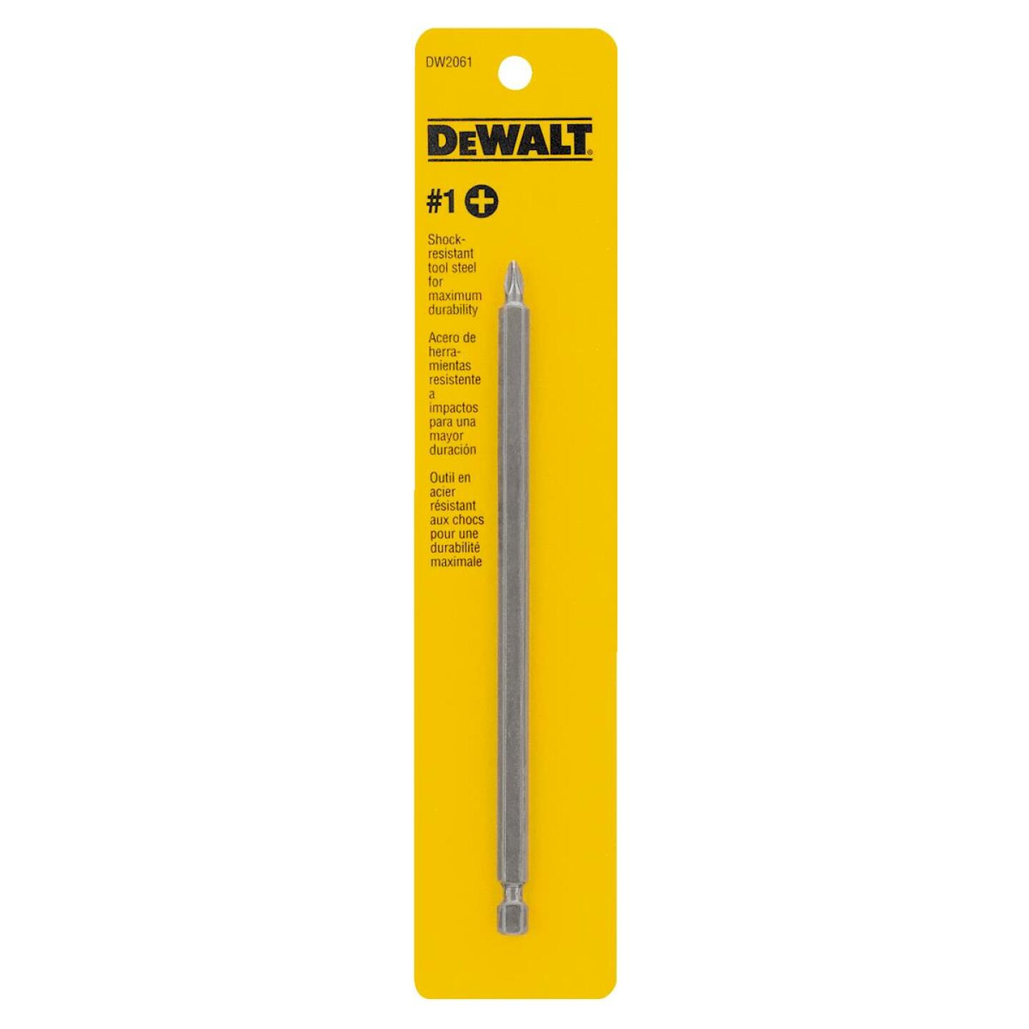DeWalt Phillips #1 6 In. 1/4 In. Power Screwdriver Bit Image 2