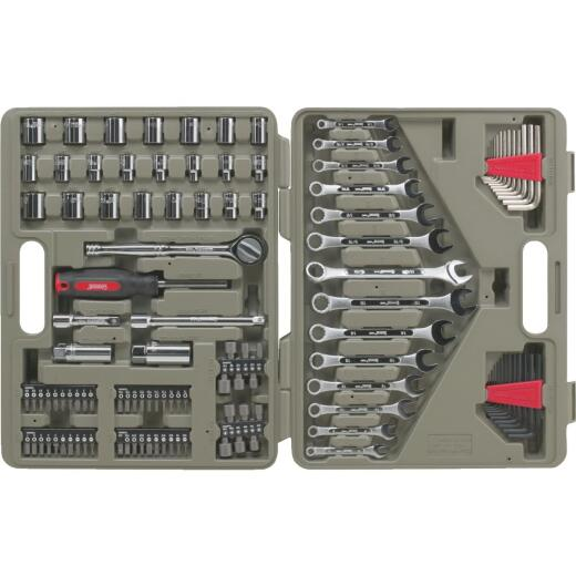 Crescent 3/8 In. Drive 12-Point Standard/Metric Mechanic & Automative Tool Set (128-Piece)