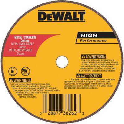 DeWalt HP Type 1 3 In. x 1/16 In. x 1/4 In. Metal/Stainless Cut-Off Wheel