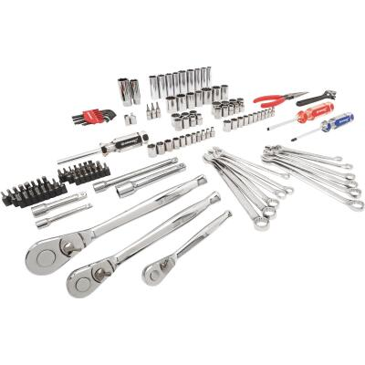 Crescent 1/4 In., 3/8 In., 1/2 In. Drive, 6 & 12-Point Standard/Metric Mechanic & Automative Tool Set (148-Piece)
