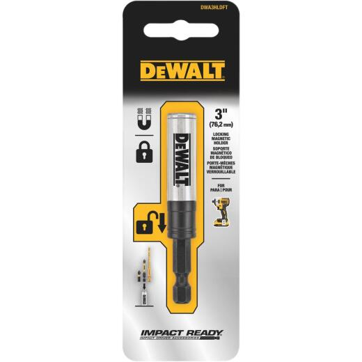 DeWalt Impact Ready 3 In. Locking Magnetic Screwdriving Bit Holder